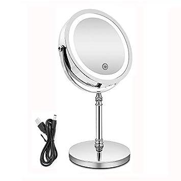 nicht Enthalten Usb Lade Led Licht Kosmetische Touch Screen Tragbare Desktop Make-up Spiegel 4 X Aaa Batterie
