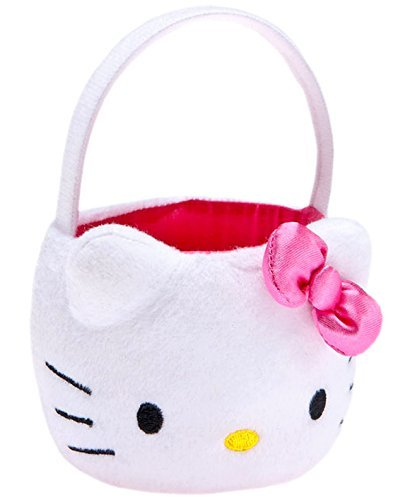 Build a Bear Workshop Hello Kitty White Easter Basket with Bow Sanrio HK Toy