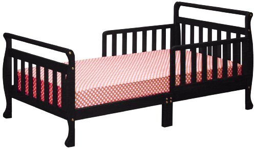 Athena Anna Sleigh Toddler Bed, Black