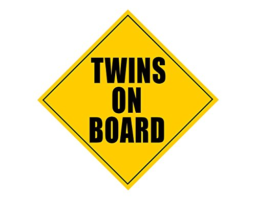 (Zone Tech Twins On Board Safety Sign Children Magnet)
