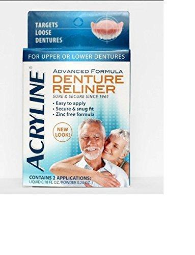 Acryline Advanced Formula Denture Reliner, 2 Applications