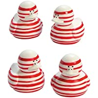 Candy Cane-Striped Rubber Duckies - Great For Giveaways;...