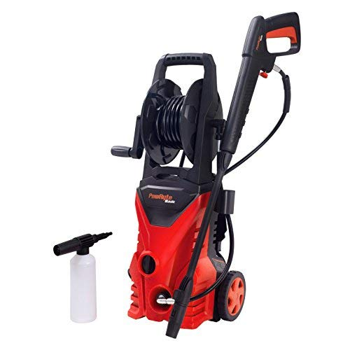 PowRyte Elite 2300 PSI 1.9 GPM Electric Pressure Washer, Power Washer with Hose Reel, Extra Turbo Nozzle, 3 Quick-Connect Spray Tips and Tall Handle