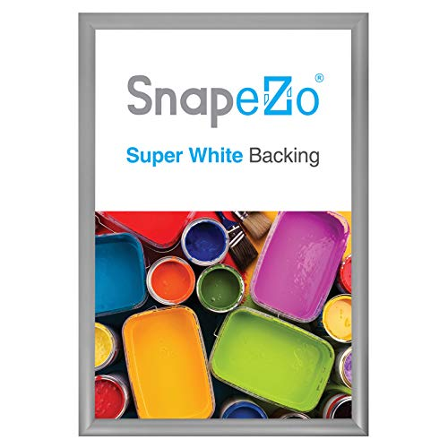 SnapeZo Silver Poster Frame 13x19 Inches, 1.2 Inch Aluminum Profile, Front-Loading Snap Frame, Wall Mounting, Premium Series