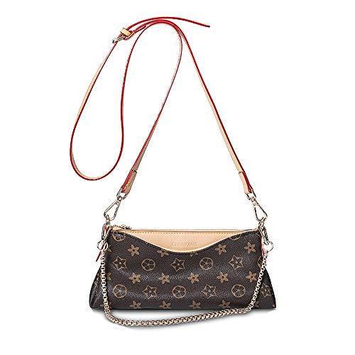 Women MIni Crossbody Shoulder Purse Little Leather Crossbody Lightweight Hobo Bags Travel Cell Phone Purse Handbags (Brown)