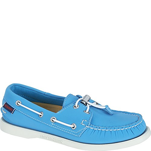 Sebago Women's Dockside Ariaprene Aqua Blue Neoprene Boat Shoe 9.5 M