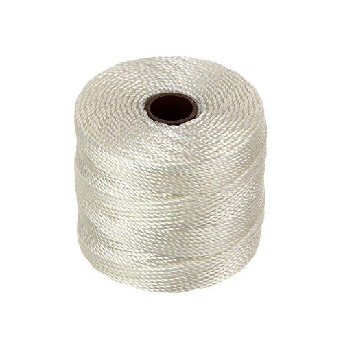 Beadsmith Superlon Bead Cord White 0.5mm - 77 Yards (70m)