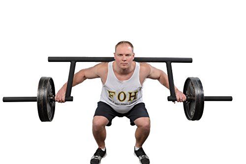 """Cambered Squat Bar (Cambered Squat Bar by Force of Habit- Olympic 2"""" 39 lbs 13"""