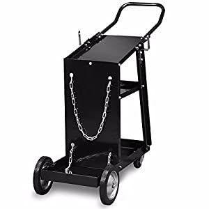 Welding Cart Universal Mig Mag Arc Tig Machine Welders Storage For Tanks Safety by Branded