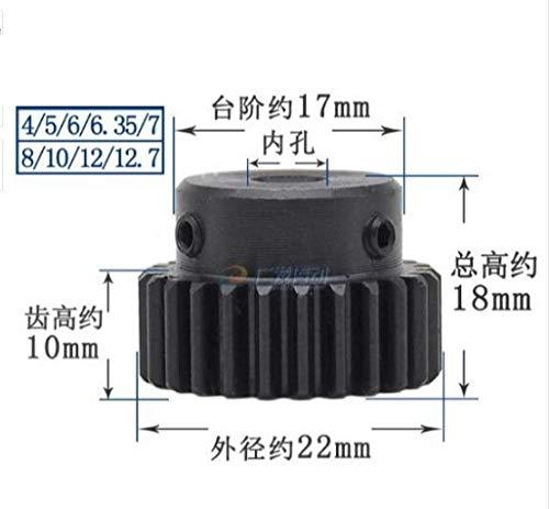 Ochoos 2pcs 1M20T 1 Mod 20 Teeth Spur Gear Metal Motor boss Gear Inner Hole 4/5/6/7/8/10/12/12.7 Gear Rack Transmission RC - (Number of Teeth: 20 Teeth, Hole Diameter: 8mm)
