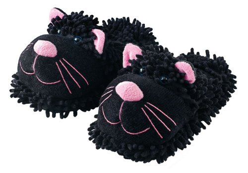 Aroma Home Dog Fuzzy, Women's Slippers Black
