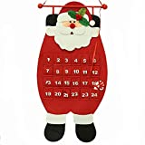 HOMEMIX 1pcs Christmas Advent Calendar Wall Hanging Calendars Countdown Christmas Decor(Random Pattern)