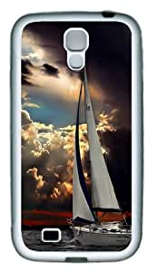 Samsung Galaxy S4 Case and Cover - Navigation Sea Dark Clouds Storm TPU Hard Plastic Case for Samsung Galaxy S4 / SIV/ I9500 - White