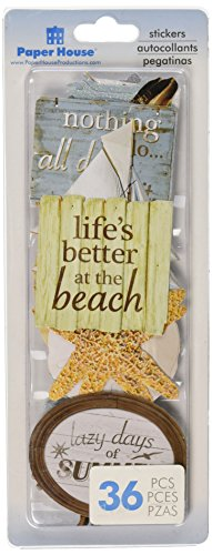 PAPER HOUSE SelfAdhesive Serene Beach Die-Cuts (36 Pack) ()