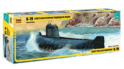 ZVEZDA 9025 - Soviet Nuclear Submarine K-19 - Plastic Model Kit Scale 1/350 Lenght 12.5