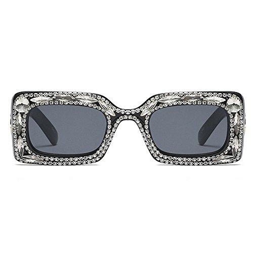 Ultravioleta para Las Proteccion Sol Negro de del de la Gafas de de de Ojos protección Sol de de Gafas conducción cuadradas Mujeres Color Moda de Lujo Cristal Tonos PIqv41x