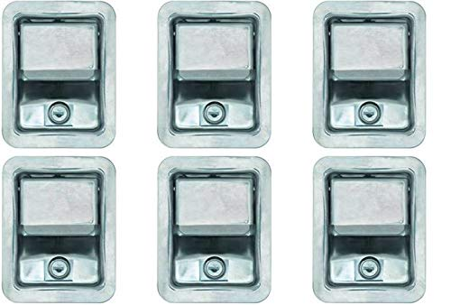 Set of 6, Buyers Products L3885RLS-x6 Stainless Steel Rotary Paddle Latch and Gasket for Tool Box Door, Truck Body, Utility Body ()