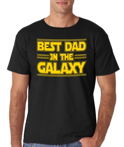 Best Dad in the Galaxy | Funny Fathers Day Tee | Star in You Own War with This T-shirt (3X Large, Black)