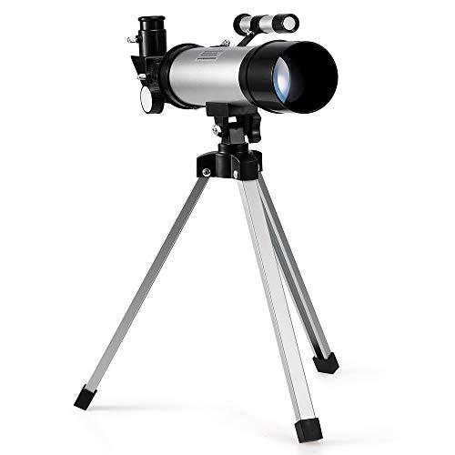 Lixada1 Outdoor HD 90X Zoom Telescope 360x50mm Refractive Space Astronomical Telescope Monocular Travel Spotting Scope with Tripod