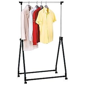 tatkraft halland collapsible adjustable clothes rack hanger on wheels 89x49x99 167cm. Black Bedroom Furniture Sets. Home Design Ideas