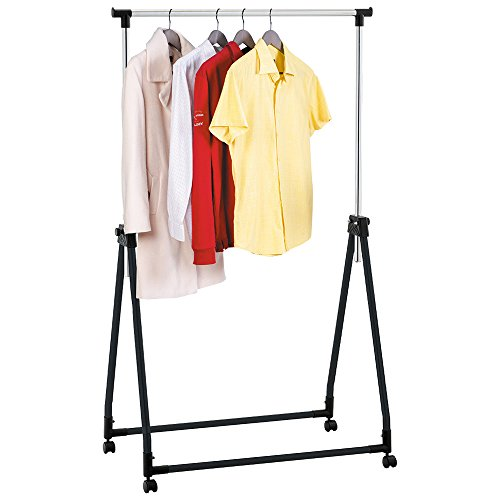 Tatkraft Halland Collapsible Adjustable Clothes Rack Hanger on Wheels 89X49X99-167cm