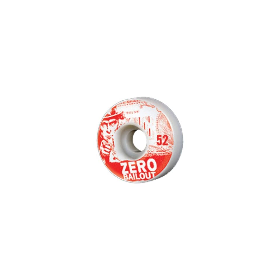 Zero Bailout 54mm Red Skateboard Wheels (Set of 4)  Sports