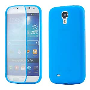 Blue Hybrid TPU Wrap Up Case w/ Built in Screen Protector Stand for Samsung Galaxy S4 i9500