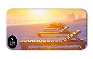 Hipster fancy iPhone 4S cases beach sunset chairs PC 3D for Apple iPhone 4/4S