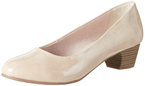Softline 22360, Zapatos de Tacón para Mujer Beige (Dune Patent 406)