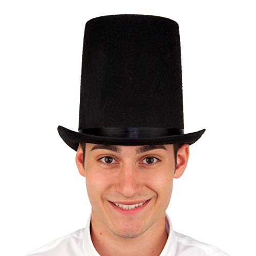 Abraham Lincoln Stovepipe Tall Top Hat Costume Accessory - Stove Lincoln
