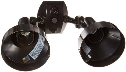 RAB Lighting H2B Bell Shaped Dual Floodlight Kit, PAR38 Type, Aluminum, 300W Power, Black