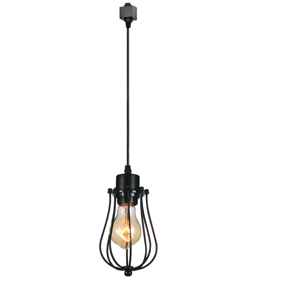 KIVEN 1-Light H-Type 3 Wire Track Light Pendants Length 3.3 feet Restaurant Chandelier Decorative Chandelier Instant Pendant Light Industrial Factory Pendant Lamp, Bulb Included by Kiven (Image #1)