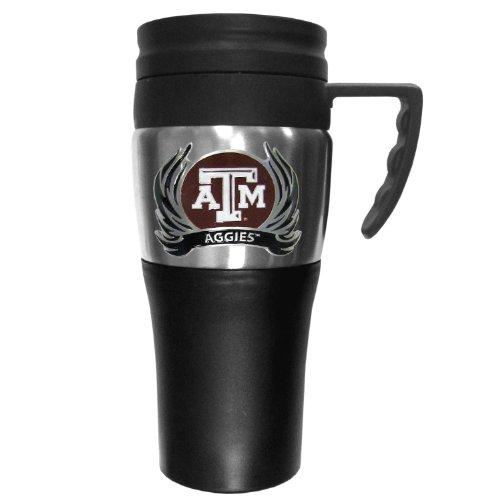 NCAA Texas A&M Aggies 2 Toned Travel Mug with Flame Logo (Aggies Coffee Texas A&m)