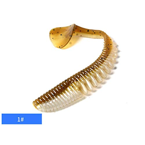 (Nafanio 5PCS/Lot Soft Fishing Lure 10cm Tail Grubs 5g Artificial Bait)