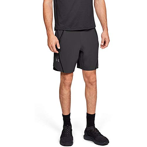 Under Armour Men's Speedpocket 8'' Linerless Shorts, Charcoal (019)/Reflective, Small by Under Armour (Image #1)