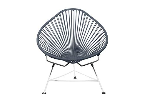 Innit Designs VQP-006 Innit Baby Acapulco Chair - Grey Weave/Chrome Frame (Acapulco Furniture)
