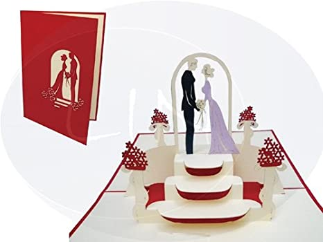 Auguri Matrimonio Non Presenti : Lin biglietti di auguri inviti di matrimonio 3d pop up anche per