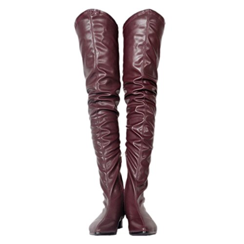 Slouchy Thigh Kolnoo Purple High Trend Womens Heel Fashion BFCM Boots Shaft Flat Low aIqqw0UCp