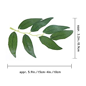 Felice Arts 2pcs 11.2 Feet Artificial Willow Leaves Vines Twigs Fake Silk Greenery Garland for Indoor Outdoor Wedding Decor Jungle Party 3