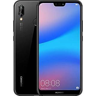 "HUAWEI P20 Lite (32GB + 4GB RAM) 5.84"" FHD+ Display, 4G LTE Dual SIM GSM Factory Unlocked Smartphone ANE-LX3 - International Model - No Warranty (Midnight Black)"