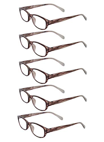 5 5 Marron 3 full frame 0 2 0 lecture pack 3 lunettes 1 5 Unisexe Inlefen 1 fashion 2 de 5 retro 0 TBwCqO5xR