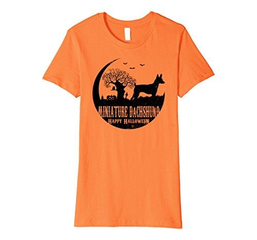 Womens MINIATURE DACHSHUND Dog Halloween Costume T-shirts Small (Halloween Costumes For Miniature Dachshunds)