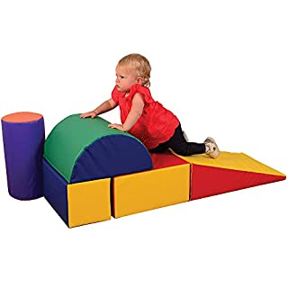 Constructive Playthings - TCF-323 5 Piece Lightweight Vinyl Soft Play Forms for Toddlers, Toddler Climbing, Crawling, Sliding Toys