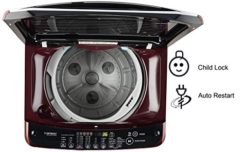 LG 7.0 Kg Inverter Fully-Automatic Top Loading Washing Machine (T70SJDR1Z, Red Floral) 2021 June Fully-automatic top-loading washing machine; 7.0 kg Warranty: 2 years on product, 10 years on motor Smart inverter technology