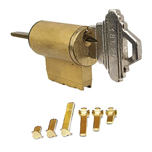 Global Door Controls Universal Cylinder 5-Pin Schlage with 6 Tail Pieces