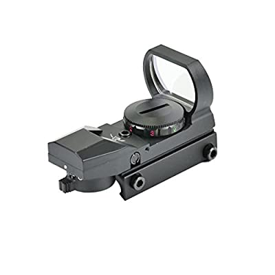 Shootmy 4 Reticles Holographic Reflex Sight Red and Green Dot Scope 1x23x34, (Black) by Shootmy