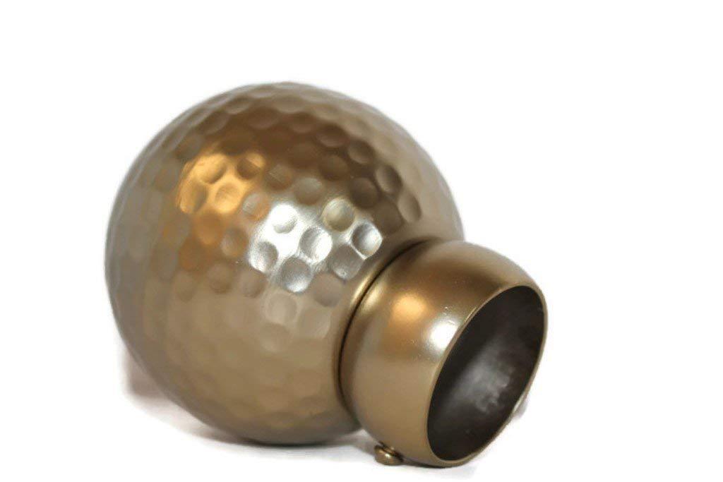 Levolor 打ち出しボールカーテンロッドフィニアル1 3/8インチ。 つや消し真鍮2個セット。 3 inch  つや消し 真鍮 B07G6QKV9H