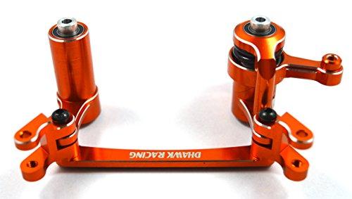 Dhawk Racing Aluminum Steering Bellcrank /w Bearing & Steering Posts Orange For Yeti XL AX90032 ()