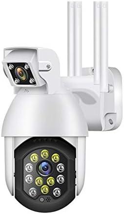 1080P WiFi cámara inteligente binocular al aire libre impermeable PTZ cámara IP inalámbrica AI detección de movimiento humano cámara de vigilancia inalámbrica de seguridad para el hogar 1080p+16G