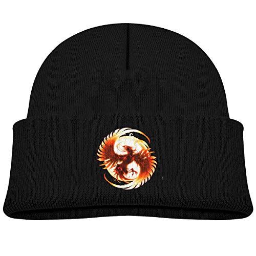 Rising Phoenix Beanie Caps Skull Hats Baby Girls Black]()